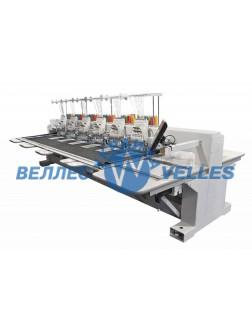 VE 1206 FAS Промышленная 6-ти головочная машина для плоской вышивки с системой All Servo 500x800
