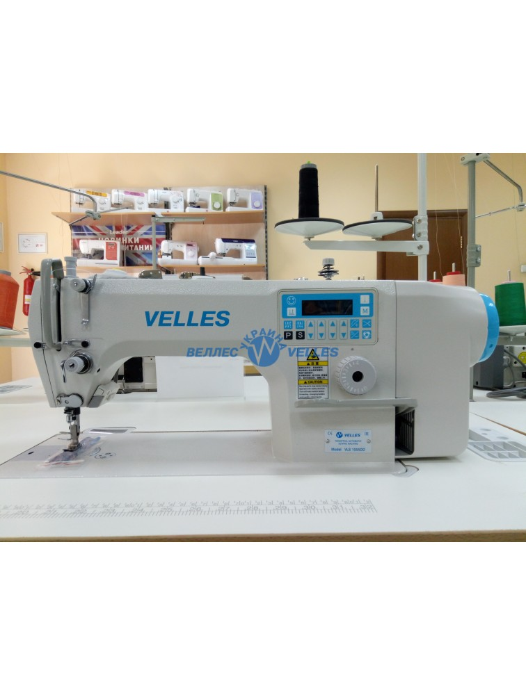 VELLES VLS 1055DD Промышленная одноигольная швейная машина челночного стежка со встроенным в головку двигателем