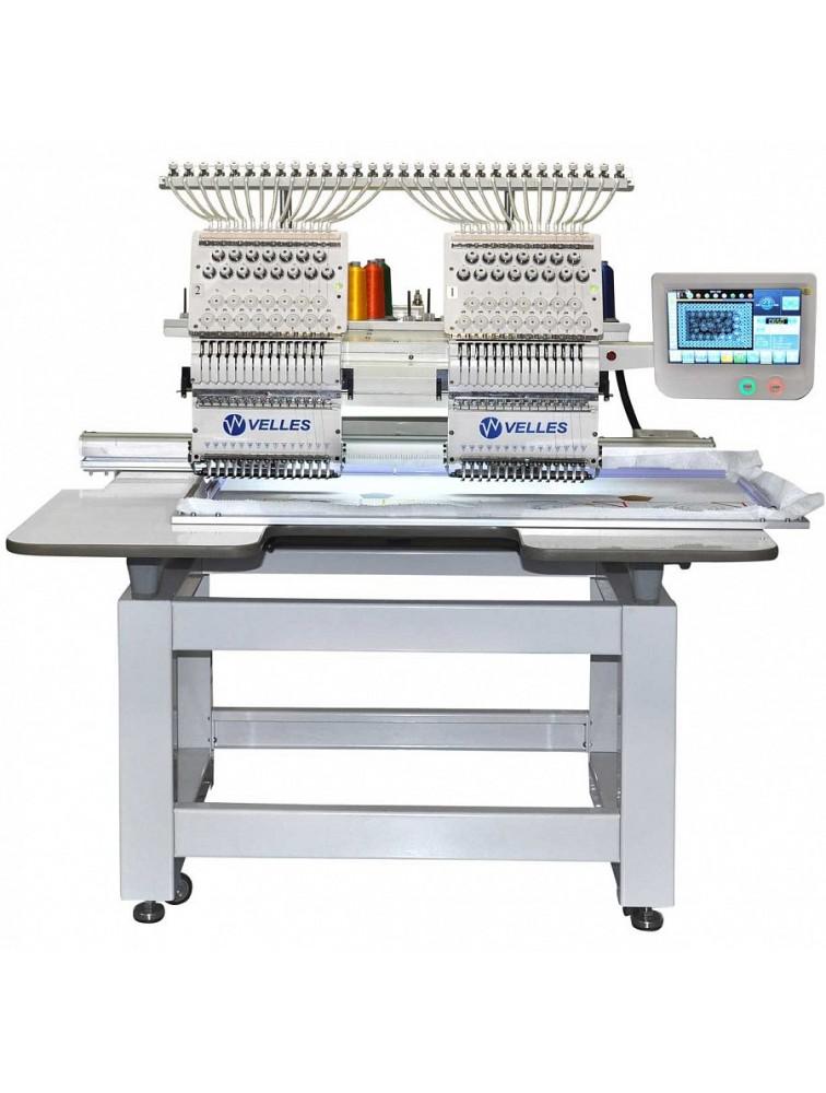"""Промышленная 2- головочная вышивальная машина для """"рукавной"""" вышивки с облегчённым корпусом VELLES VE 1502 CAP-SE"""