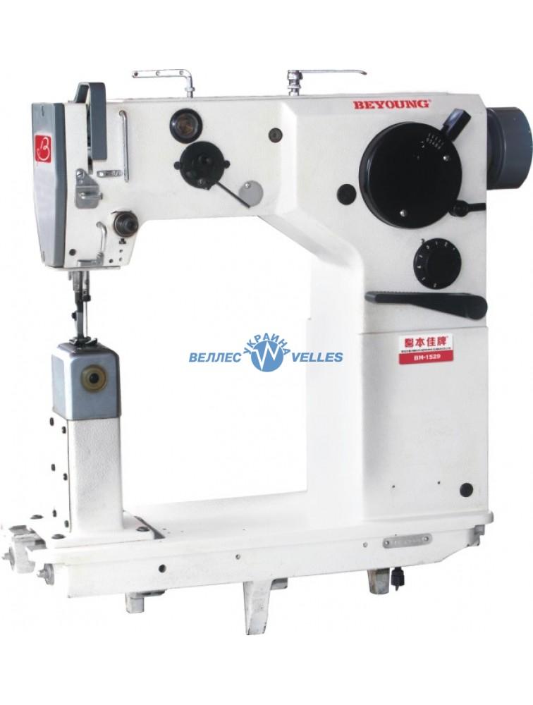BEYOUNG BM-1529 одноигольная швейная машина зиг-заг с колонковой платформой