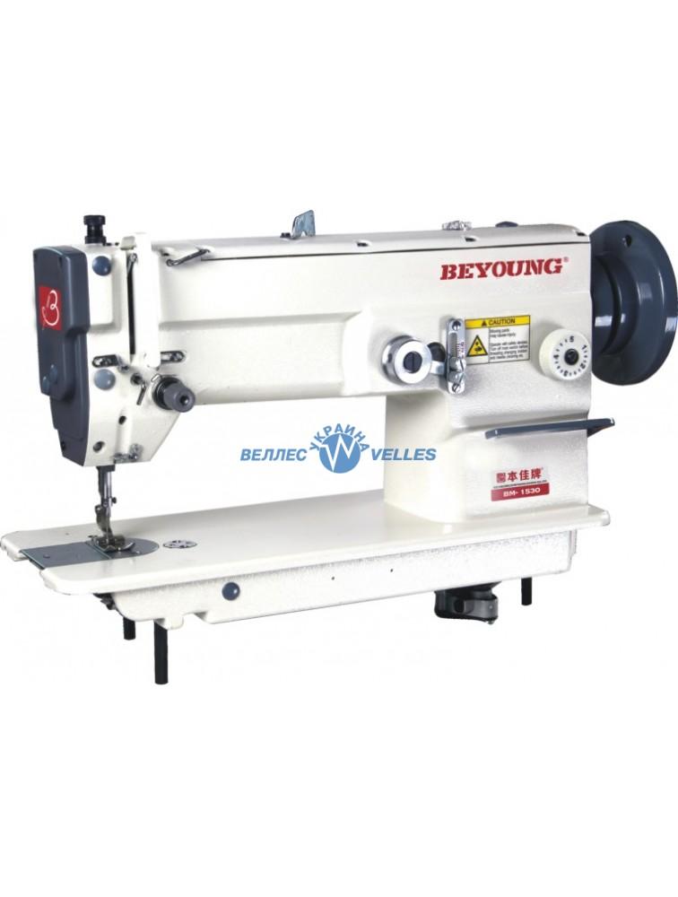 BEYOUNG BM-1530 одноигольная швейная машина зиг-заг с плоской платформой