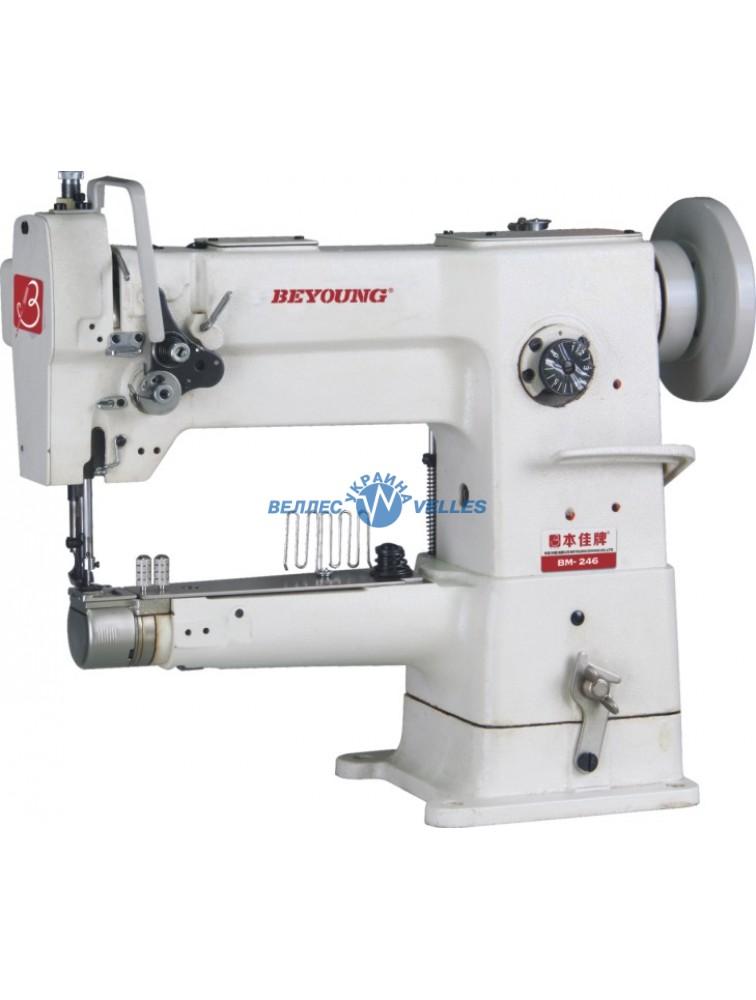 Beyoung BM-246 одноигольная швейная машина с рукавной платформой