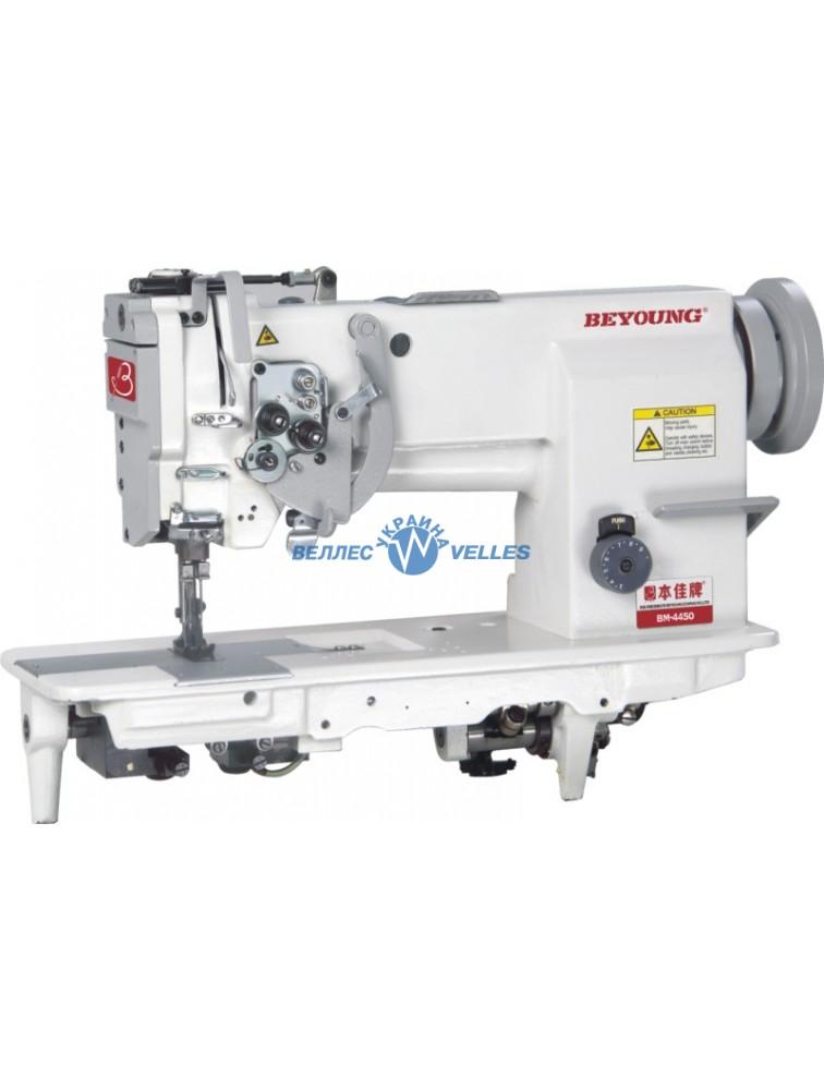 Beyoung BM-4450 двухигольная швейная машина  с плоской платформой