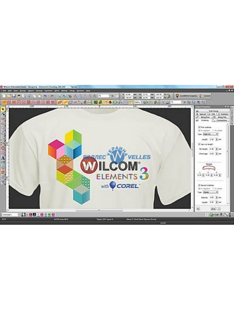 Программное обеспечение для создания дизайнов вышивки Wilcom Embroidery Studio E3 Desining with CorelDraw